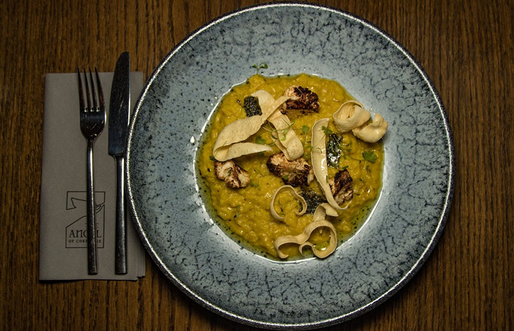 Curried Cauliflower and Fenugreek Risotto