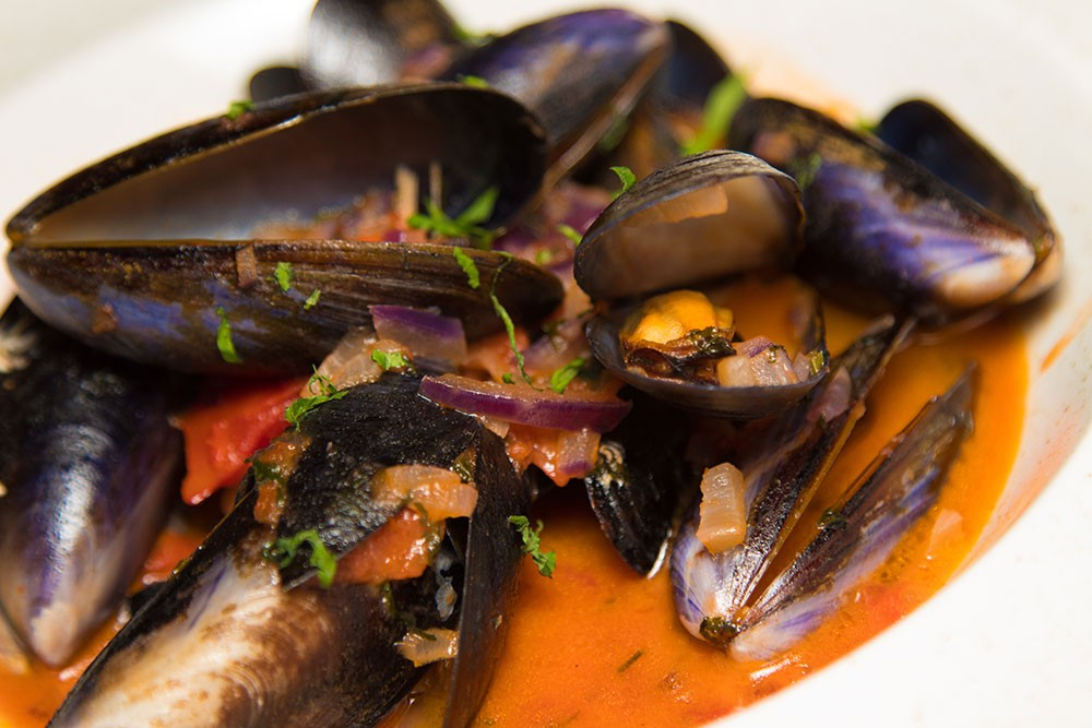 Steamed Scottish Mussels